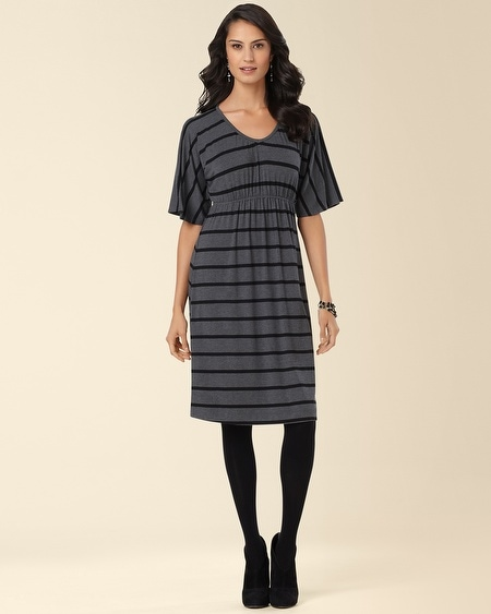 Kimono Sleeve Dress Black/Heather Grey