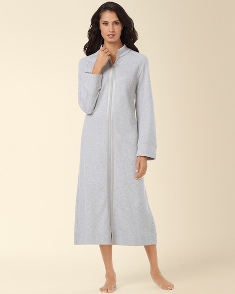 Carole Hochman Quilted Zip Long Robe - Soma