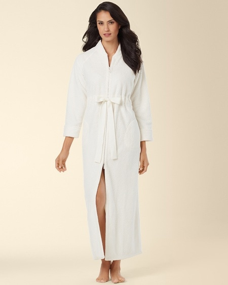 Long Zip Robe Ivory