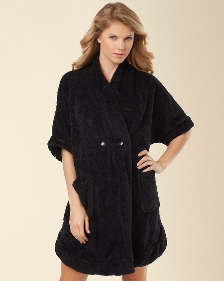 Warm Embrace Short Robe Black