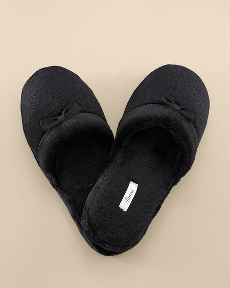 Plush Slipper Black