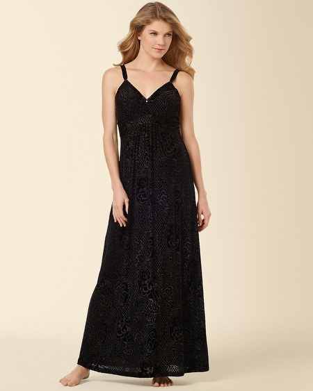 Devore Velvet Long Nightgown