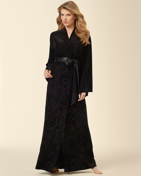 Devore Velvet Long Robe