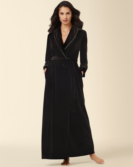 Decadence Velvet Robe with Gold
