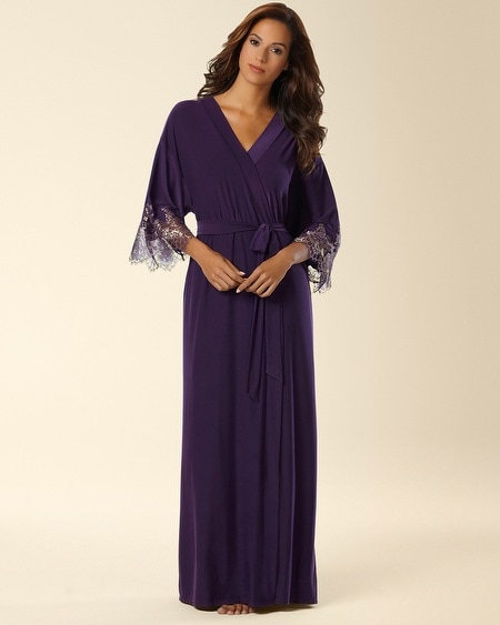 Shimmer Lace Long Robe