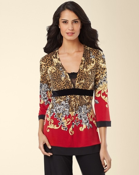 Riviera Long Sleeve Pajama Top