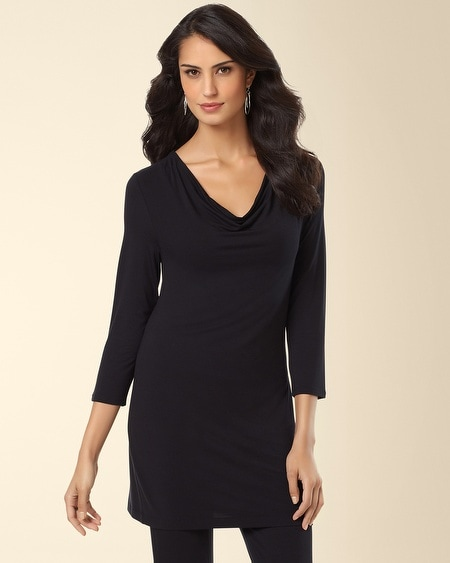 Drape Tunic Black
