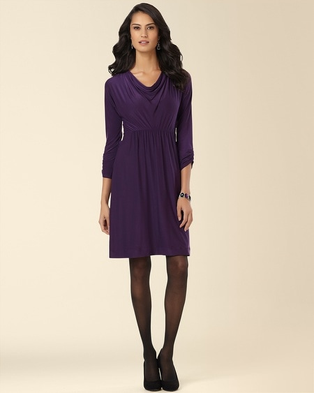 Cowl Neck Dress Blackberry