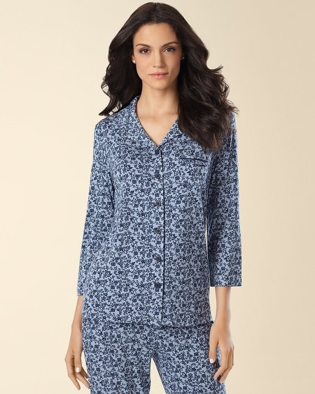 Notch Collar Pajama Top Chic