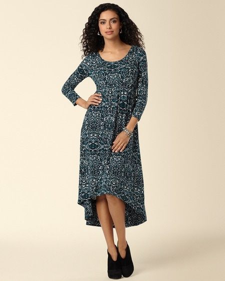 Hi Low Midi Dress Amore Print