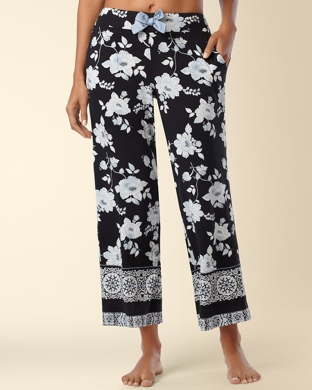 Crop Pajama Pants Empire Border