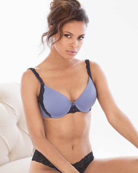 Demi Lace Trim Bra
