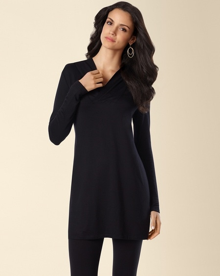 Divine Terry Hooded Tunic Black