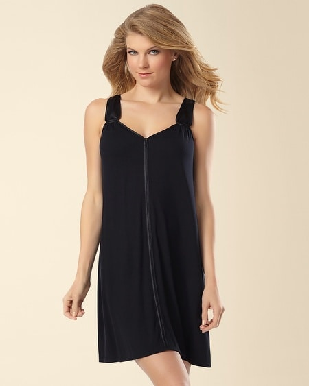Night Skies Sleep Chemise Black