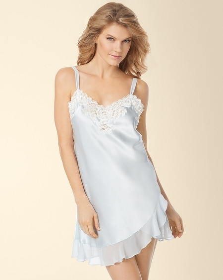Evening Bliss Sleep Chemise Feather Blue Size: 1X-3X