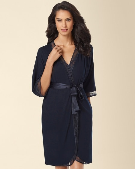Lovely in Lace Robe Midnight