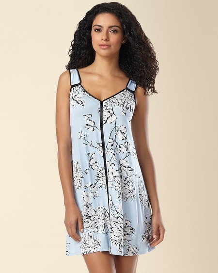 Night Skies Short Gown Evening Dahlias Skyway Size 1X-3X