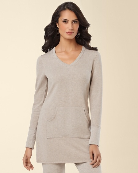 Fleece Tunic Heather Toast