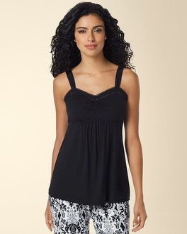 Embraceable Cool Nights Lace Sleep Cami Black