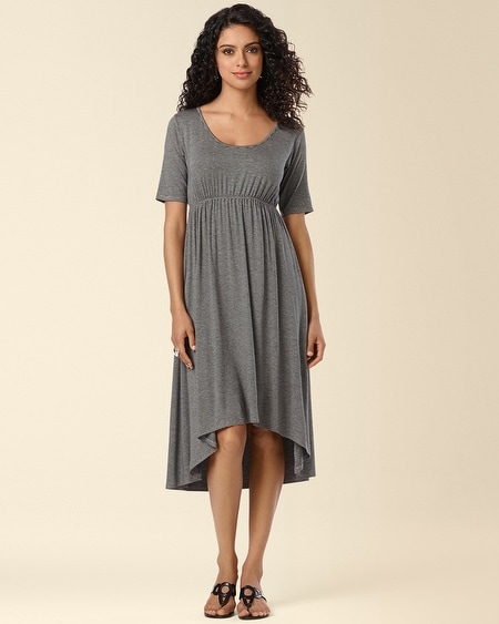 Hi Low Dress Heather Stripe