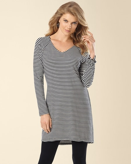 Divine Terry Dolman Sleeve Tunic Shelbourne Stripe