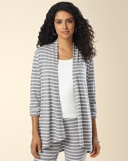 Ribbed Jersey Open Wrap