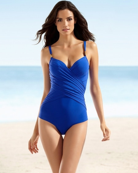 Christina Contour Molded Cup Crossover One Piece Swimsuit