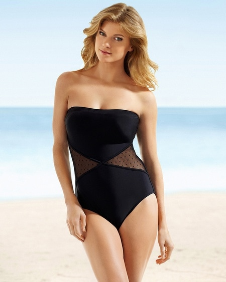 Christina Mesh Bandeau One Piece Swimsuit