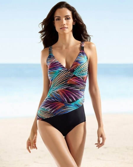 Christina  Aurora Borealis Crossover C/D Cup One Piece Swimsuit