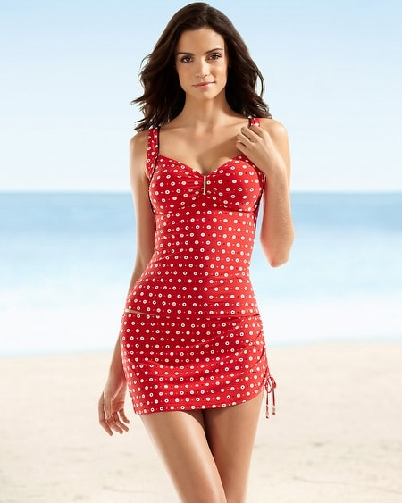 Precious Dot Tropical Sea Swim Tankini Top
