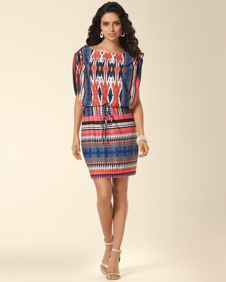 Muse Tab Shoulder Blouson Dress
