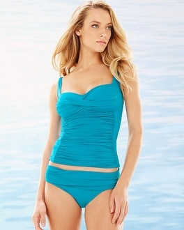 La Blanca Sweetheart Swim Tankini Top Teal