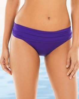 La Blanca Shirred Hipster Swim Bottom