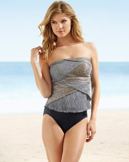 Miraclesuit Shimmer Muse Bandeau Tankini Top