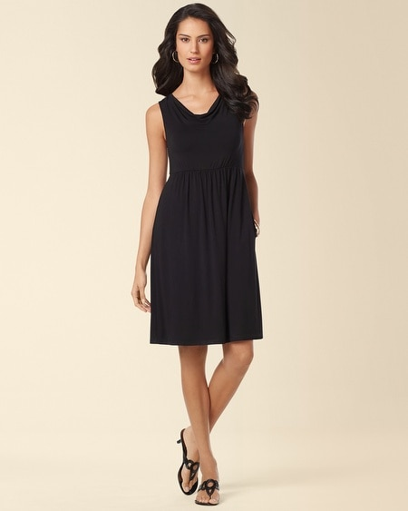 Cowl Neck Dress Black