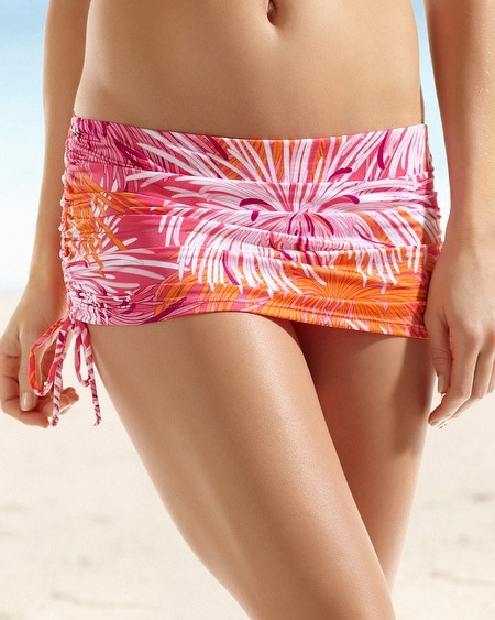 Be Creative Beach Coquette Shirred Skirted Brief