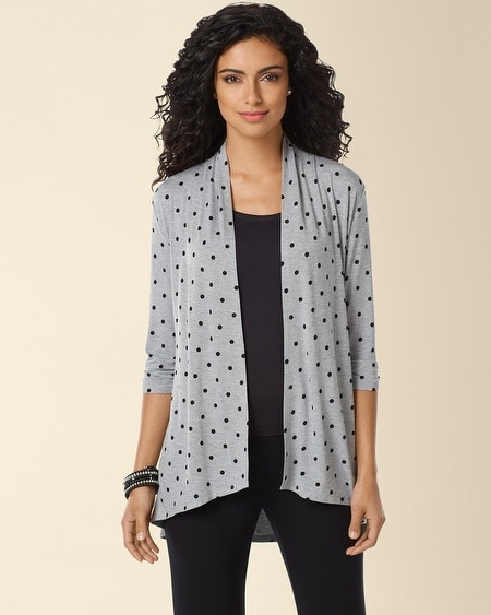 Open Wrap Coverup Winsome Dot Gray