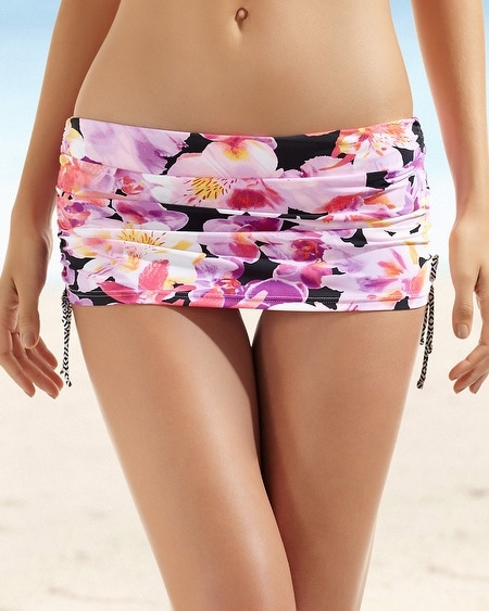 Be Creative Exotic Mania Shirred Skirted Swim Brief