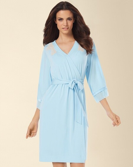 Treasured Short Robe Seabreeze