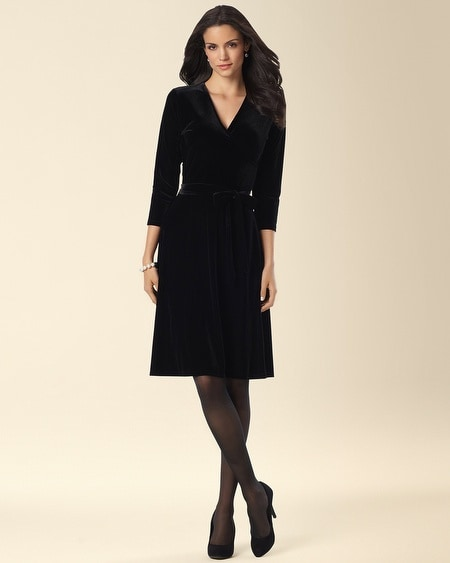 Leota Velvet Perfect Wrap Velvet Dress