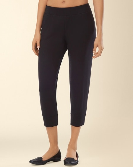Divine Terry Banded Bottom Crop Pant