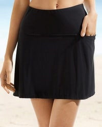 Miraclesuit Fit and Flair Swim Skirt Bottom Black