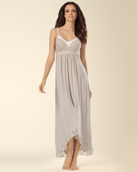 Floral Scallop Lace Long Nightgown