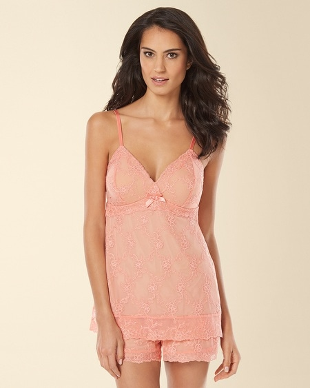 Embroidered Mesh Sleep Cami