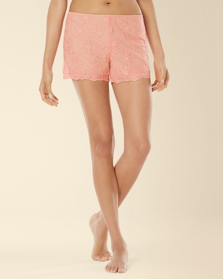 Embroidered Mesh Sleep Short