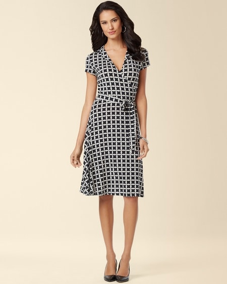Leota Collar Wrap Dress Black Yacht