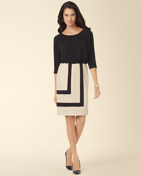 Muse Blouson Colorblock Dress