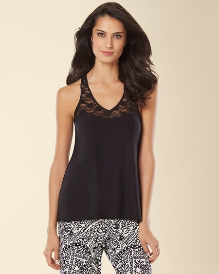 In Bloom by Jonquil Carmen Paisley Sleep Tank Black