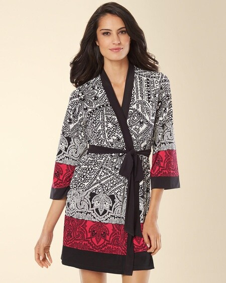 In Bloom by Jonquil Carmen Paisley Wrap Bright Pink Multi
