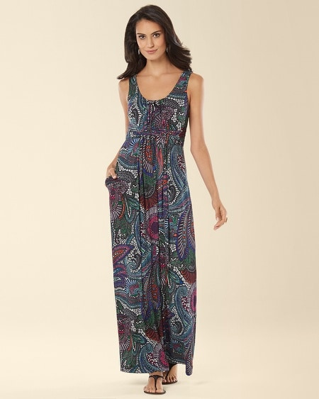 Sleeveless Wrapped Waist Maxi Dress